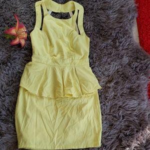 Dresses & Skirts - Yellow XTAREN  backless fitting dress